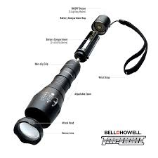 bell howell tac light lantern taclight high powered tactical flashlight w 5 modes zoom functions