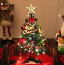 Mini Christmas Tree Decorations by Mini Small Christmas Tree Table Display Decorations Light 50cm