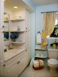 Bathroom Storage Ideas For Small Bathrooms by Elegant Bathroom With Light Blue Colored Wall And Large Bathroom
