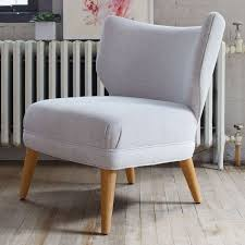 West Elm Armchair Retro Wing Chair In Grey Finddesign