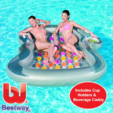 Twin Inflatable Bed by Designer Doubie Twin Inflatable Swimming Pool Mattress Sun Lounger