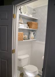 wondeful shelving idea for bathroom with glass shelves also