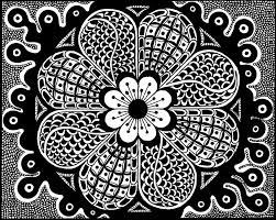 zentangle colouring instant download coloring cute