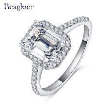 aliexpress buy beagloer new arrival ring gold beagloer 2016 new coming wedding rings for women square cubic zircon