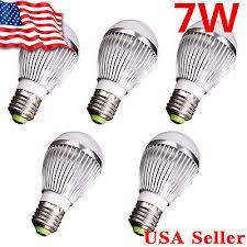 heat generating light bulbs 5x super bright high power 7w 12v e27 home led bulb rv lights white