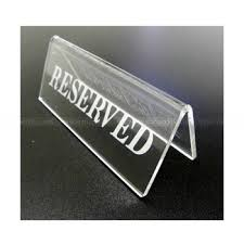 metal reserved table signs etching tabletop clear acrylic reserved signs acrylic table tent