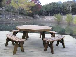 Octagon Patio Table Plans Build A Picnic Table With Detached Benches Garden Furniture
