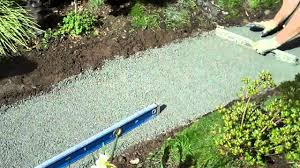 Slate Rock Patio by How To Build A Flagstone Walkway Part I Youtube