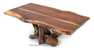Walnut Wood Coffee Table Rustic Black Walnut Coffee Table Log Cabin Coffee Table