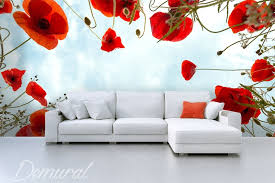 Poppy Wallpaper Home Interior  Furniture Inspiration  Interior - Poppy wallpaper home interior