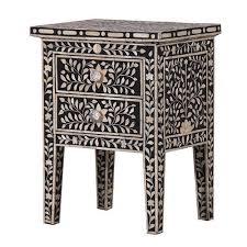 bone inlay bedside table shallow drawer u2013 shropshire design