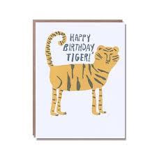 happy birthday tiger card nineteen seventy three