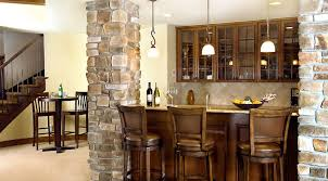 Kitchen Sconce Lighting Bar Stunning Wet Bar Cabinets To Create A Contemporary Man Cave