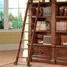 Walnut Ladder Bookcase Parker House Ggra 9030 3 Grand Manor Granada Museum Library