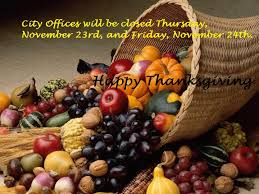 city offices closed for thanksgiving de