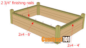bed designs plans raised garden beds plans free bed for designs nofancyname co