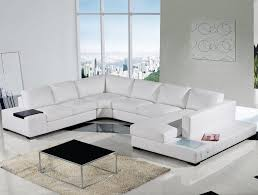 White Leather Sofa Sectional Modern White Leather Sectional Sofa Furniture