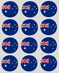 24 australia theme edible wafer paper cup cake toppers co