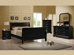 black full bedroom set louis philippe black full 4 pcs set