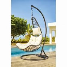 siege suspendu jardin fauteuil suspendu chill blanc et gris anthracite transat hamac