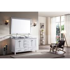 Double Sink Vanity Top 61 Ace 61 Inch Double Sink Bathroom Vanity Set In White Finish