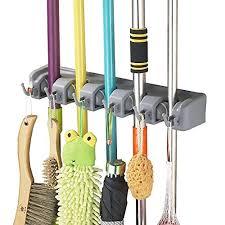 Ball Organizer Garage - mop and broom holder u2013 wall mounted garden tool rack garage