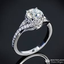 engagement rings houston pave wrap diamond engagement ring houston diamond jewelry