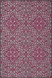 Raspberry Pink Rug Raspberry Rug In Pewter U0026 Raspberry Design By Bd Fine U2013 Burke Decor