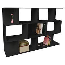 furniture large l shaped modular bookcase in white interesting