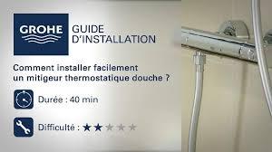 montage robinet cuisine comment installer un thermostatique tuto grohe