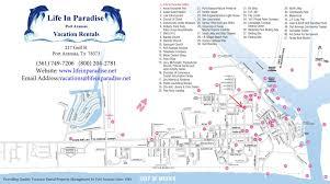 Mexico Beach Map by Port Aransas Vacation Rentals Condos Beach Houses