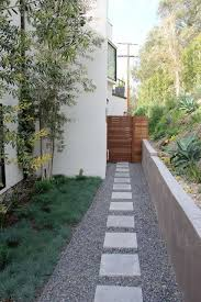 mid century modern landscaping love the stone path with concrete