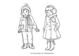 winter clothes colouring