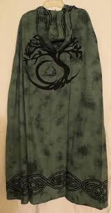 celtic ritual robes tree of celtic knot cloak cape pagan wicca ritual robe