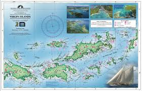 Map Of Virgin Islands A Waterproof Planning Chart Of The Virgin Islands Cruising Guides