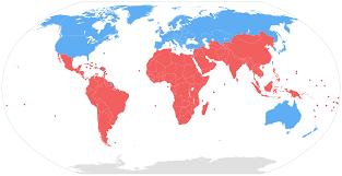 Image Of World Map North U2013south Divide Wikipedia