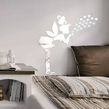 popular wall sticker mirror acrylic girl buy cheap angel girl cartoon wall acrylic crystal mirror surface three dimensional stickers new arrival