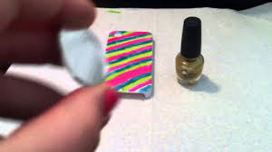how to paint a iphone case with nail polish part 2 youtube