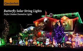 qedertek solar string lights qedertek butterfly solar string lights 24 6ft 40 led waterproof