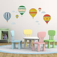 colourful hot air balloons wall stickers vintage hot air balloons wall stickers