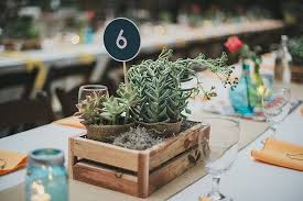 succulent centerpieces centerpieces in wooden crate