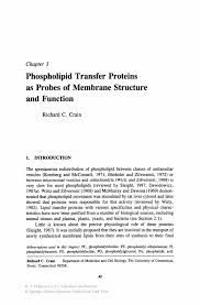 phospholipid transfer proteins as probes of membrane structure and