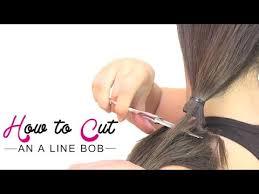 how to cut angled bob haircut myself how to cut an a line bob youtube