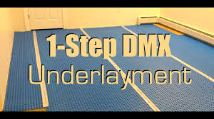 1 step dmx underlayment for basement floor youtube
