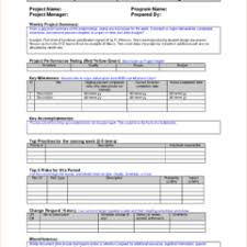 editable employee or sales weekly work report template sample