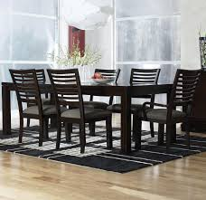 simple and streamlined rectangular table and chairs dining rooms