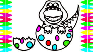 hatching eggs baby dinosaurs t rex coloring pages for kids