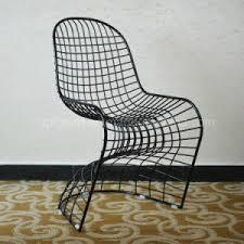 verner panton l replica china modern s shape replica verner panton wire chair sp mc009