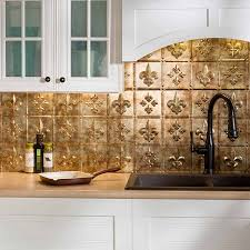 Backsplash Pictures Fasade Backsplash Fleur De Lis In Bermuda Bronze