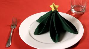 how to fold a napkin into a christmas tree napkin folding youtube
